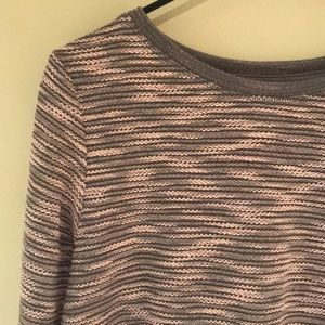 H&M Pink & Grey Long Sweater
